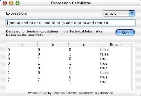 Monkeybread Software - Freeware - Boolean Calculator 2 0