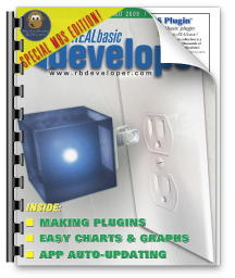 Cover of REALbasic Developer Magazine MBS Edition