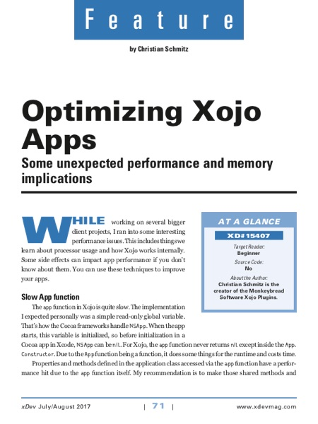Xojo Developer Magazine